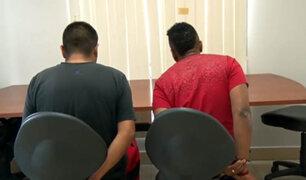 Ladrones de casas son detenidos cuando escapaban con artefactos