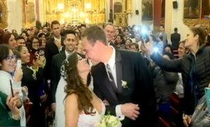 El candidato y su boda: George Forsyth y Vanessa Terkes se dieron el sí