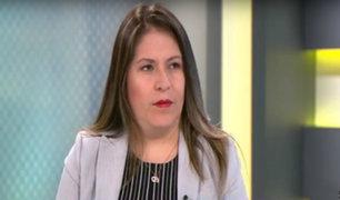"""Yeni Vilcatoma: """"Dejemos de lado la confrontación en el Congreso y veamos el consenso"""""""