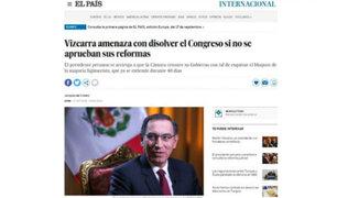 Así habla la prensa extranjera del mensaje a la nación del presidente Vizcarra