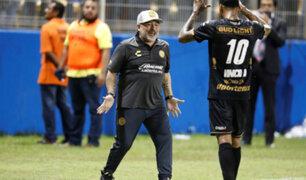 Diego Maradona debutó triunfante como DT en Dorados de Sinaloa