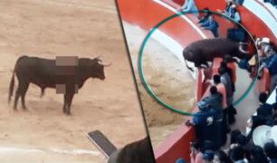 Toro corneó a varias personas en feria patronal de Tacabamba