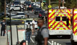 EEUU: al menos cuatro muertos y cinco heridos deja tiroteo en Maryland