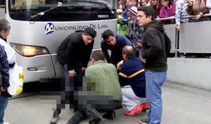 Escolar fue atropellado por bus del Metropolitano en la avenida Alfonso Ugarte