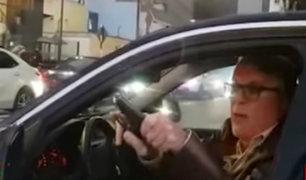 San Isidro: sujeto amenazó con un arma de fuego a conductor que lo recriminó por conducir mal