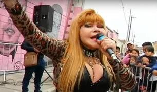 La Tigresa llegó a Atahualpa y exige retrato en el mural rosado