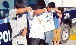 Inseguridad ciudadana: menores de edad involucrados en asaltos