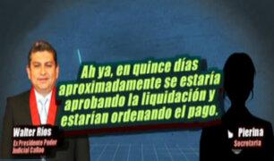Sueldos supremos: Hugo Velásquez también coordinaba con Walter Ríos