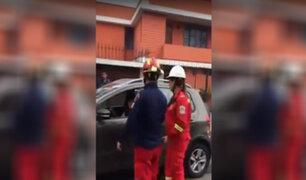Pueblo Libre: mujer arrolló a tres bomberos tras chocar su auto