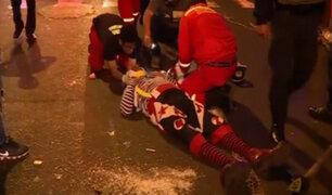 La Victoria: malabaristas son atropellados en av. Paseo de la República