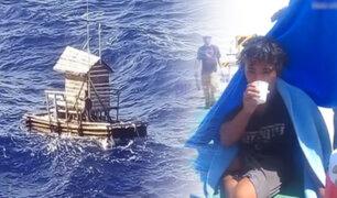 Océano Pacífico: adolescente fue rescatado tras sobrevivir 49 días en balsa