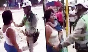 Tumbes: mujer golpea a policías de tránsito para evitar ser intervenida