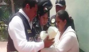Apareció bebé que habría sido raptado por mujer en Huaycán
