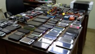 Policía interviene locales donde se cambiaba el código IMEI de celulares
