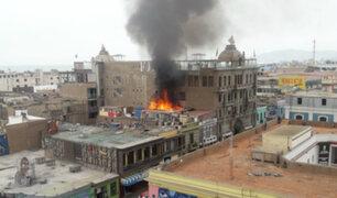 Callao: incendio destruye casona de zona declarada patrimonio cultural