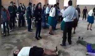 Huanta: asistentes entran en trance con ritual dentro de una Iglesia pentecostal
