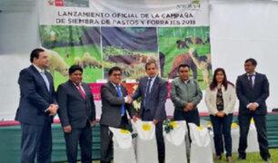 Minagri lanza campaña de siembra de pastos y forrajes en 22 regiones del país