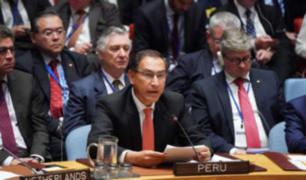 Vizcarra participa en el Consejo de Seguridad de la ONU presidida por Trump