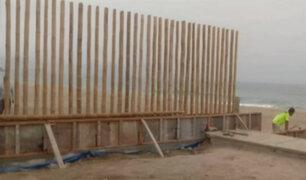 Punta Rocas: residentes denuncian construcción de muro en playa