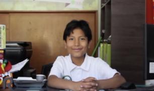 José: El niño que a los 7 años fundó su propio banco y apunta a lo más alto