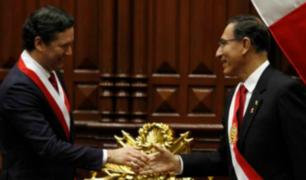 Martín Vizcarra y Daniel Salaverry se reunieron este viernes en Palacio de Gobierno
