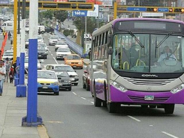 Corredor Morado: desde este sábado nuevo servicio zonal cuesta S/ 1