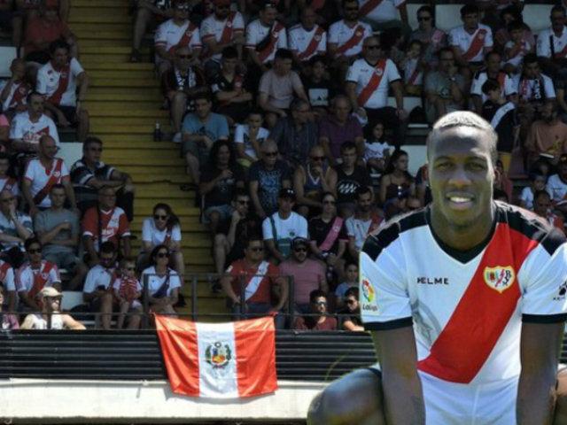 Luis Advíncula festejó segundo triunfo consecutivo de Rayo Vallecano