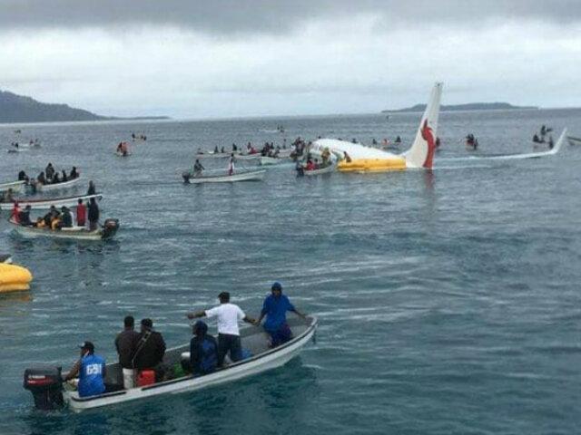 Micronesia: avión con pasajeros terminó en laguna costera tras aterrizaje