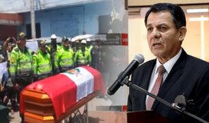 Ministro del Interior se pronuncia por asesinato de policía en el cerro San Cosme