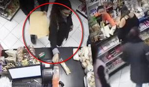 Surco: seis ladrones roban más de cinco mil soles en minimarket