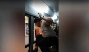 Sujeto escapa por ventana de bus tras ser sorprendido realizando actos obscenos