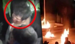 Cusco: queman vivo a presunto delincuente en Chumbivilcas