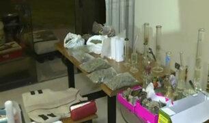 La Molina: agentes desbarataron laboratorio de drogas en La Planicie