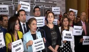 Congresistas se pronuncian por anulación de indulto a Alberto Fujimori