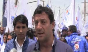 Villa el Salvador: Reggiardo prometió trabajar para mejorar calidad de vida de limeños