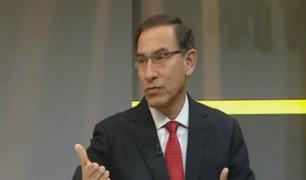 Presidente Vizcarra: congresistas no podrán postular el 2021 al parlamento bicameral