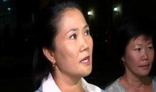 Keiko Fujimori responde por pruebas de presuntos aportes de Odebrecht a FP