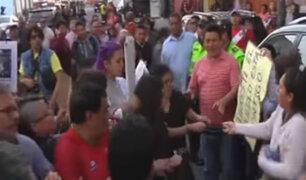 Simpatizantes de Urresti y colectivos en contra se enfrentaron
