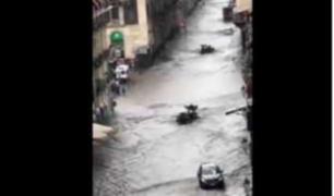 Registran severas inundaciones en Catania, Italia