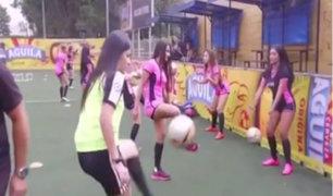 Las Divas del Fútbol: un equipo conformado por modelos y ex presentadoras de tv