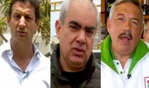 Conozca los compromisos de tres candidatos a la alcaldía de Lima