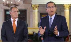 Muñoz se reúne con Vizcarra y pide ampliación de presupuesto
