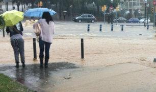 España: torrenciales lluvias vienen afectando diversas localidades del país