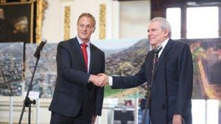Alcalde Castañeda Lossio y Jorge Muñoz se reunieron en Palacio Municipal