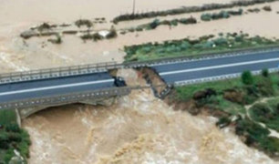 Italia: puente colapsa por intensas lluvias en la isla de Cerdeña