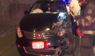 La Victoria: mujer taxista resulta herida tras choque en la Vía Expresa