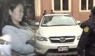 Keiko Fujimori fue trasladada a sede de la Dirincri para cumplir diversas diligencias