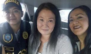 "Ministerio del Interior se pronuncia por ""selfie"" de agentes PNP junto a Keiko Fujimori"