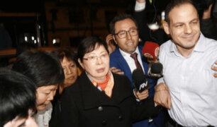 Susana Higuchi visitó a Keiko Fujimori en la Prefectura de Lima