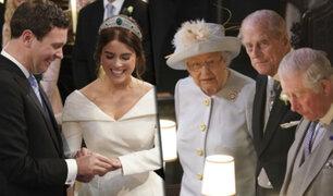 Boda Real: se casó la princesa Eugenia de York en el castillo de Windsor